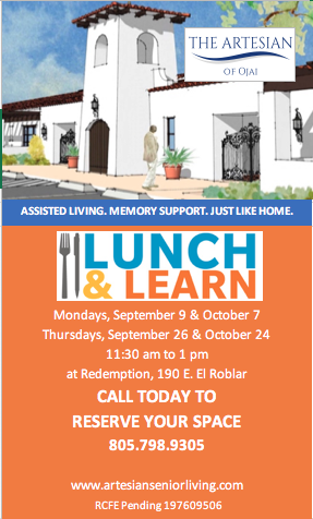Lunch and Learn Events by The Artesian of Ojai