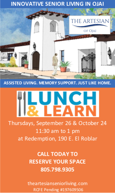 Lunch and Learn Events at The Artesian of Ojai