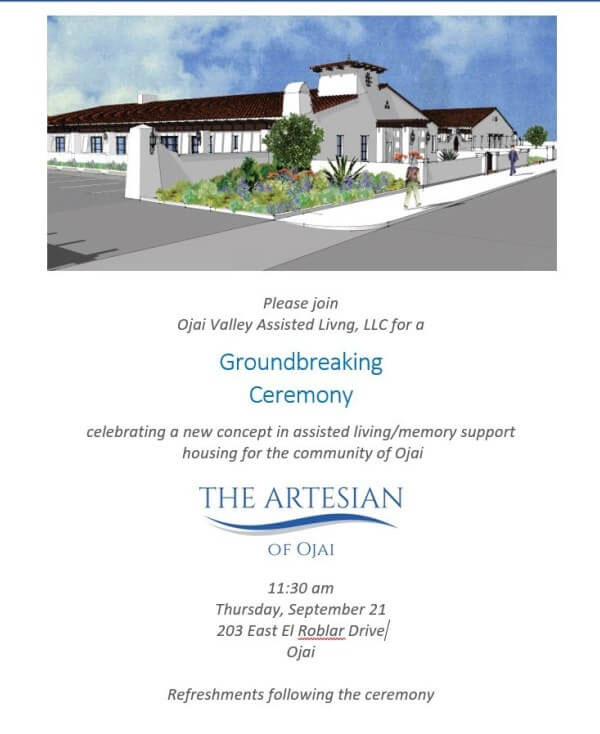 event poster for groundbreaking ceremony